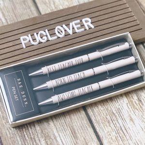 RAE DUNN Teacher Pen Set